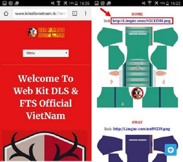 Copy đường link của mẫu áo có sẵn