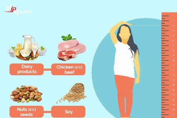 Cung cấp đủ dinh dưỡng tăng chiều cao