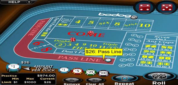 Craps là một game xí ngầu trong các casino